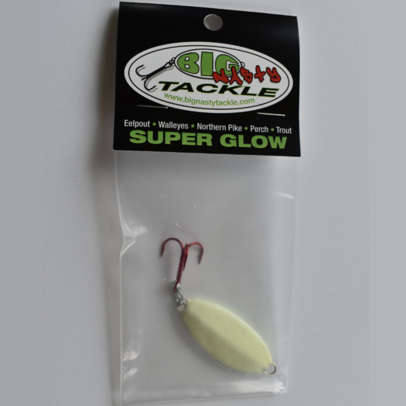 Trout-N-Pout spoon in packaging from Big Nasty Tackle.